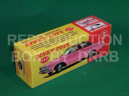 Dinky #137 Plymouth Fury Convertible - Reproduction Box